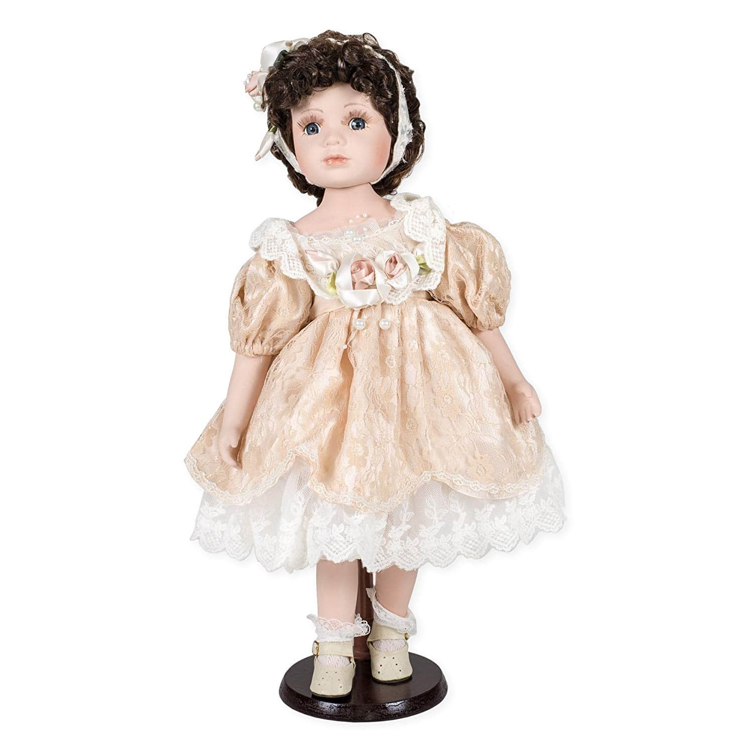3. Delton Products Porcelain Doll Gianna, 18-min