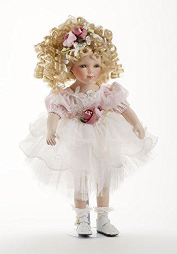5. Delton Products Porcelain Doll Roxanne Toy Figure, 16-min