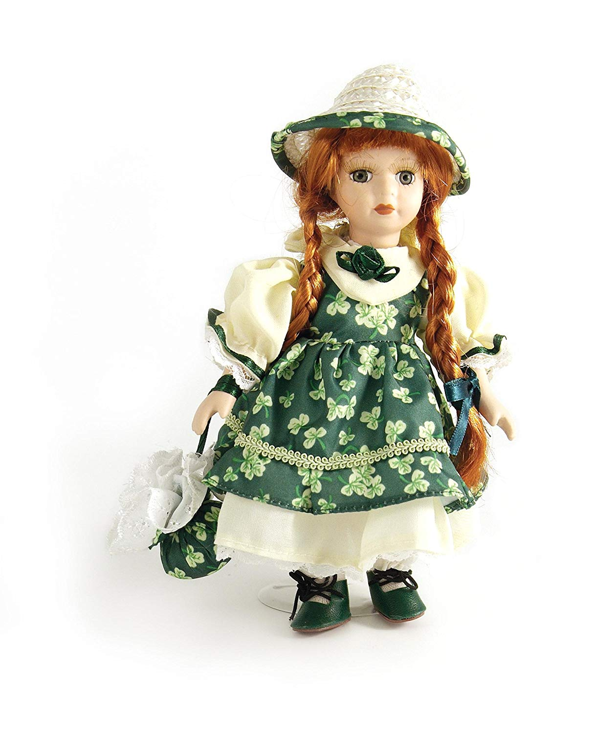 7. Carrolls Irish Gifts 8 Jenny Standing Porcelain Doll With Green Shamrock Dress
