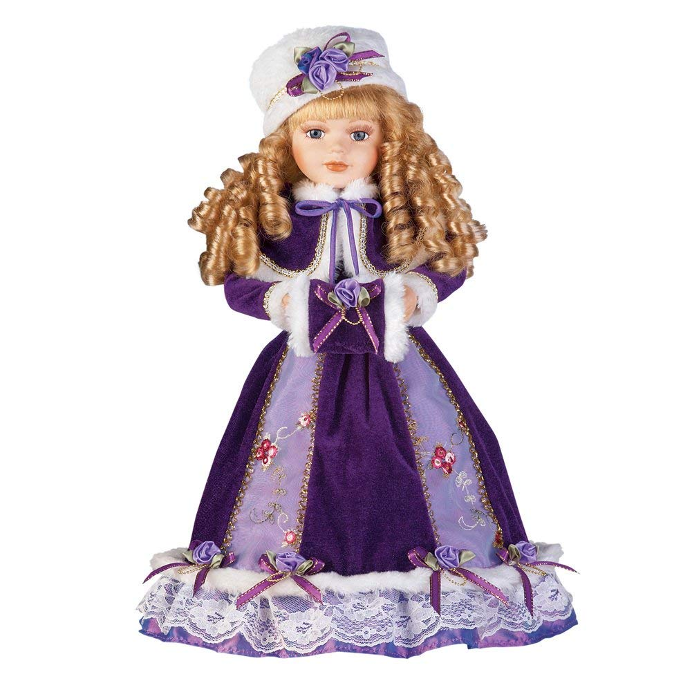 8. Collections Etc Women's Alexandra Antique Replica Victorian Winter Porcelain Doll w:Gift Box - 16 H