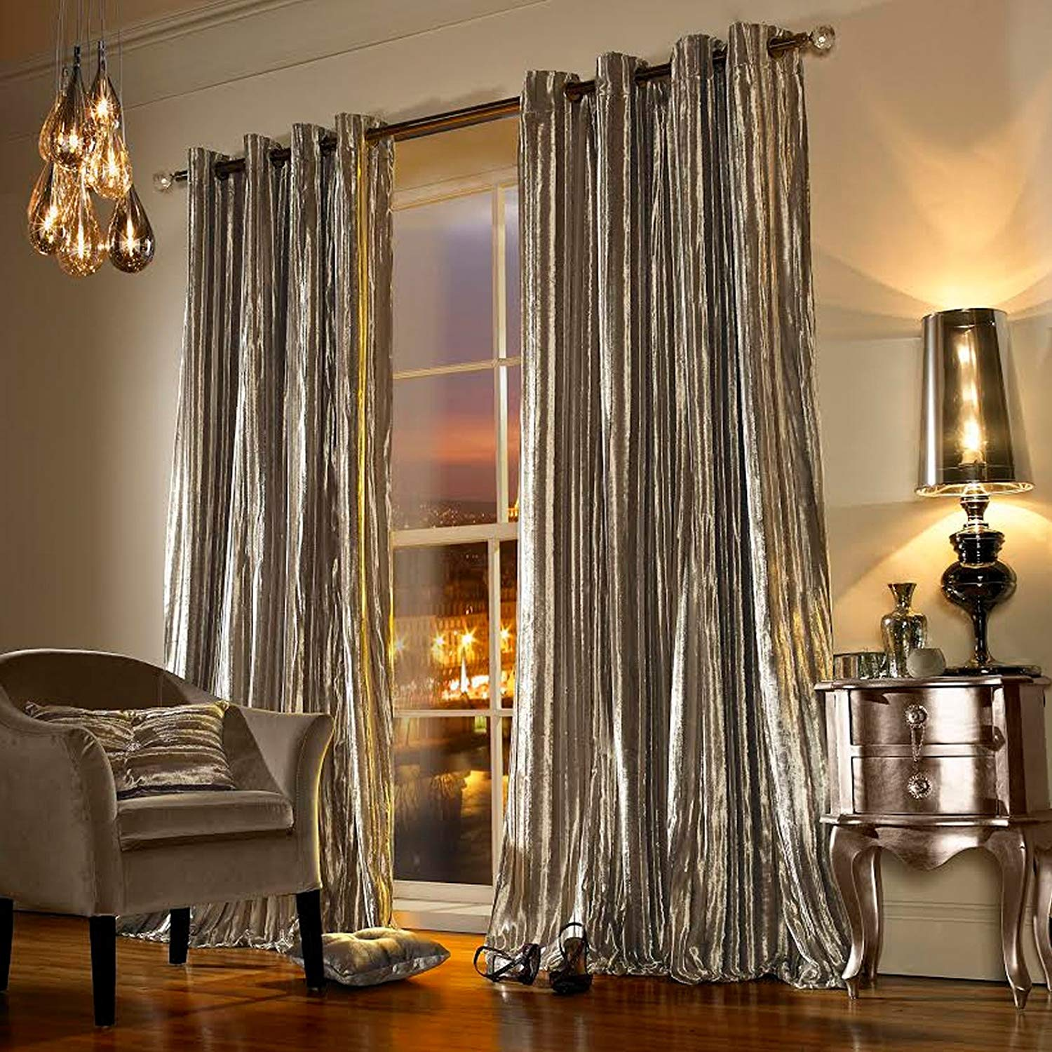 1. Iliana Curtain Panel Pair Kylie Minogue