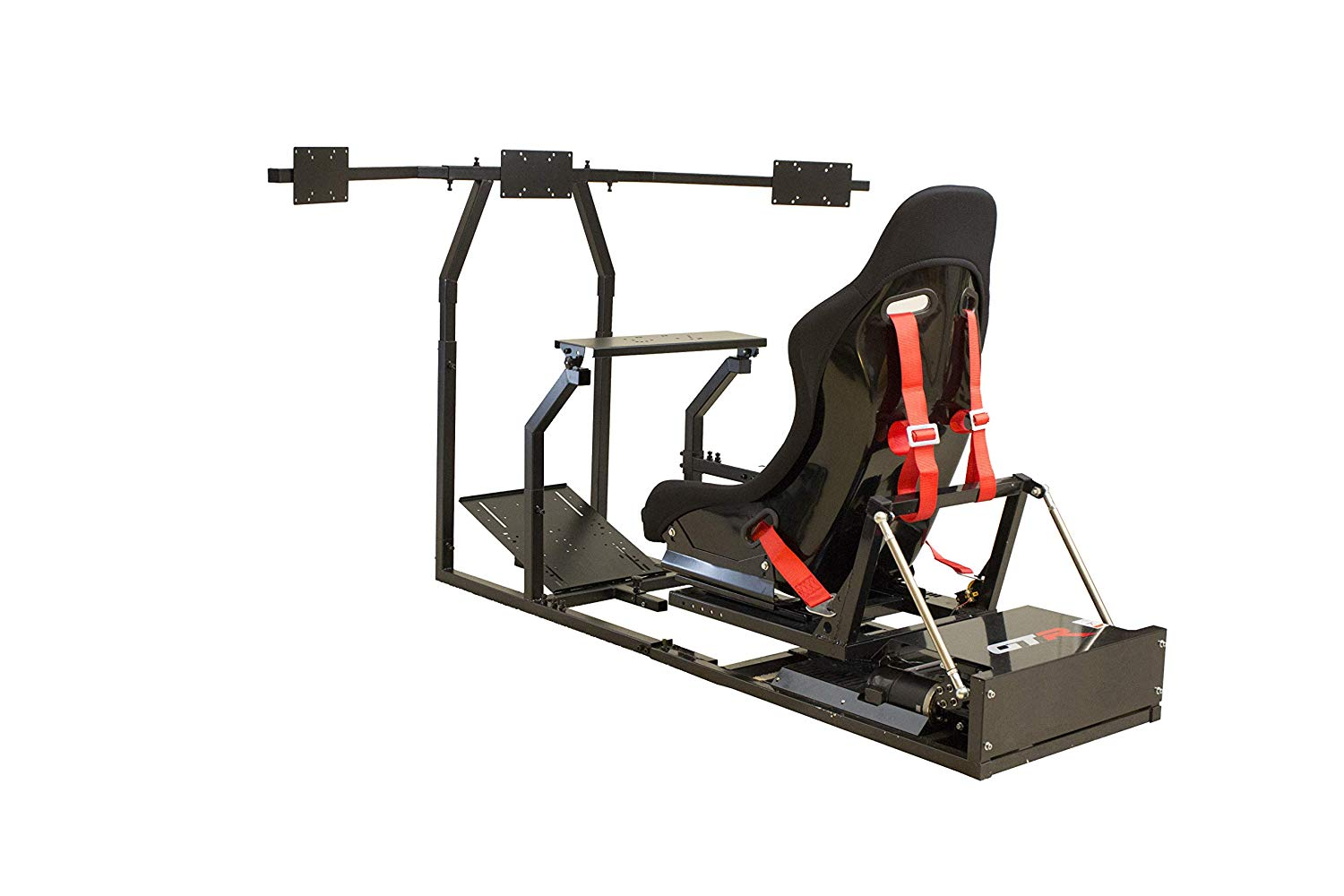 3. GTR Racing Simulator GTM-BLK-S105LBK GTM Motion Simulator Model Black Frame with Black Real Racing Seat, Driving Simulator Cockpit Gaming Chair with Gear Shifter Mount