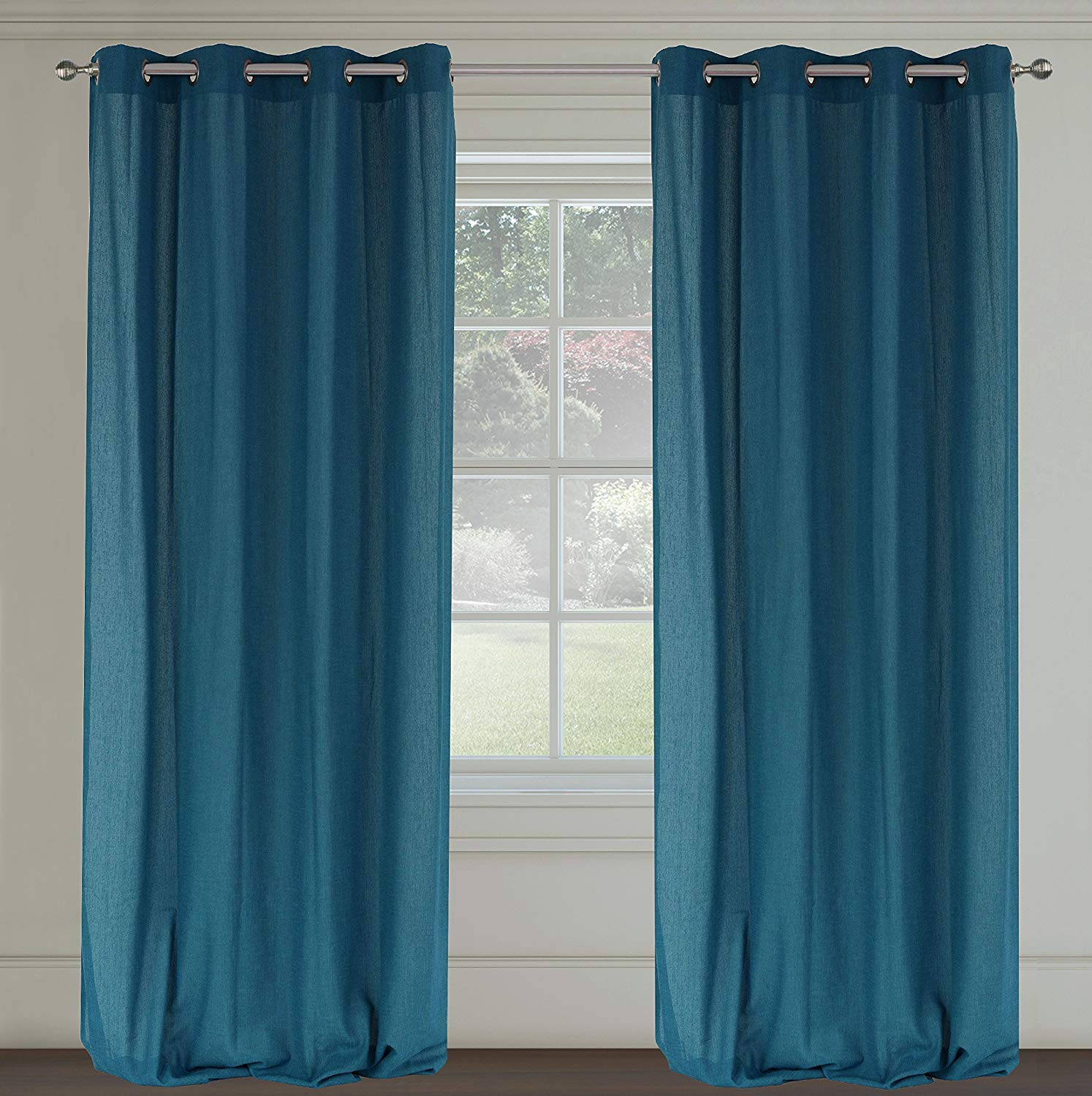 6. Rio Lined Pinch Pleated Drapes Ready To Hang with Curtain Hooks