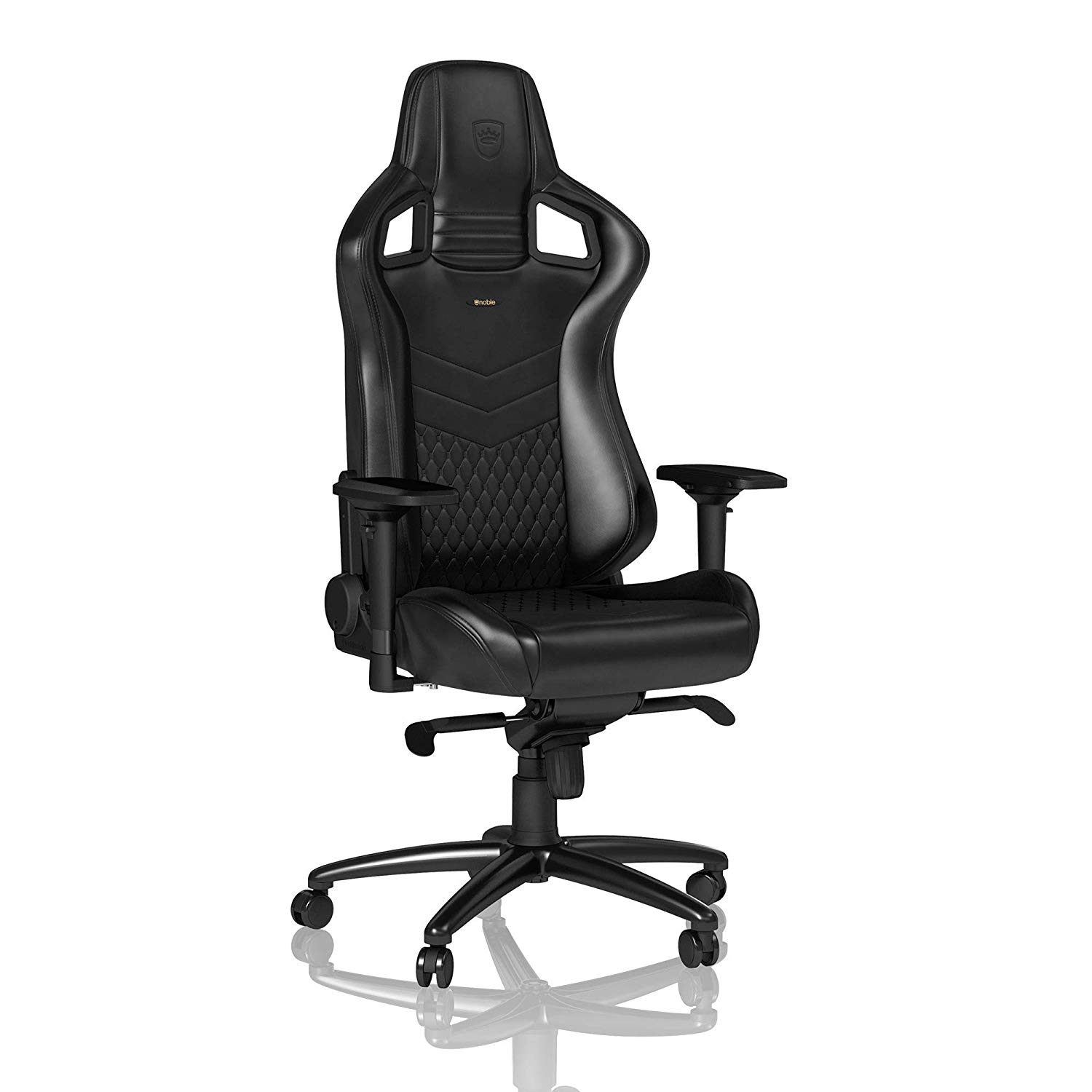6. noblechairs Epic Gaming Chair - Office Chair - Desk Chair - Nappa Leather – Black
