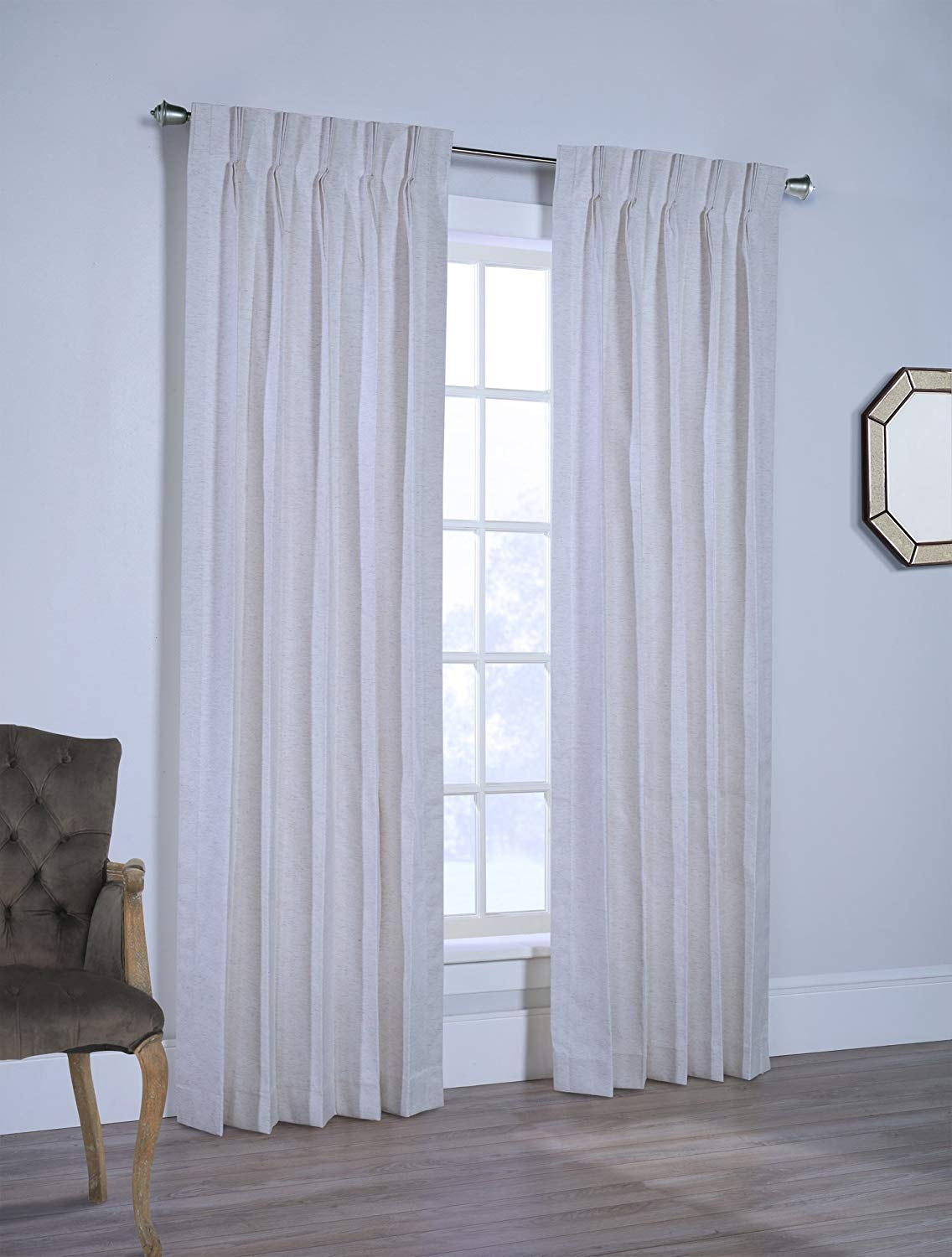 7. Rio Lined Pinch Pleated Drapes Ready To Hang with Curtain Hooks